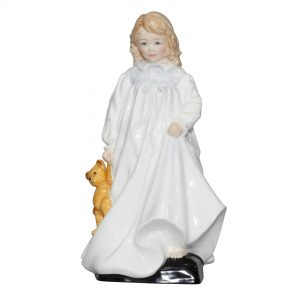 Young Girl with Teddy Bear (Prototype) - Royal Doulton Figurine
