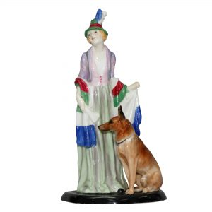 Rosamund with Dog HN1320 - Royal Doulton Figurine