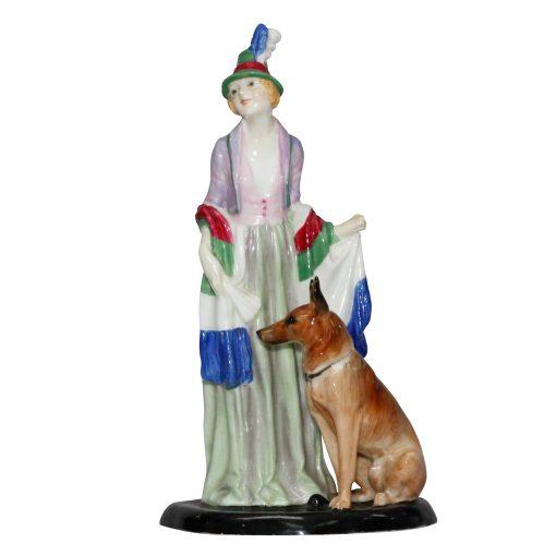 Rosamund with Dog HN1320 - Royal Doulton Figurine