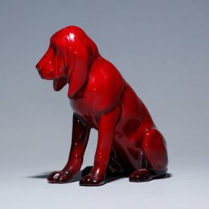 Flambe Bloodhound HN176 - Royal Doulton Animal