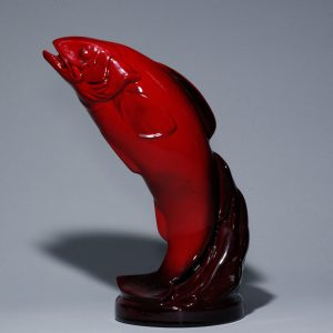 Salmon Leaping - Royal Doulton Flambe
