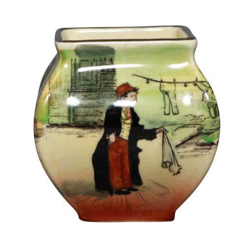 Dickens Artful Dodg Bud Vase - Royal Doulton Seriesware