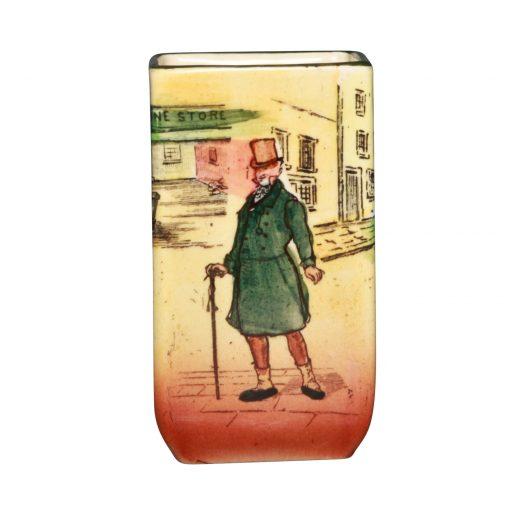 Dickens Mr Micawber Mini VaseS - Royal Doulton Seriesware