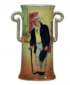 Dickens Old Peggoty Vase 5.75H - Royal Doulton Seriesware