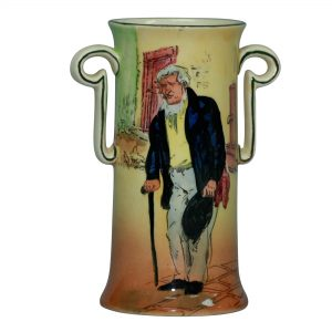 Dickens Old Peggoty Vase 5.75H - Royal Doulton Seriesware