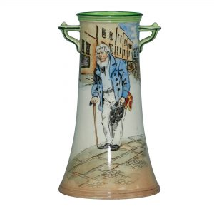 Dickens Old Peggoty Vase 7.25H - Royal Doulton Seriesware