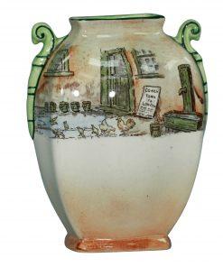 DickensTrotty Veck Vase 5.75H - Royal Doulton Seriesware