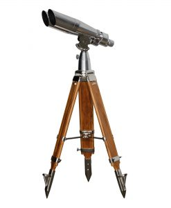 15x80 PMC USA Contemporary Binoculars on Steel and Wooden Tripods