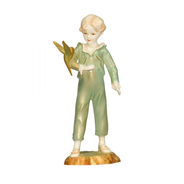 Boy with Parakeet Green RW3087 RW3087 - Royal Worcester Figurine