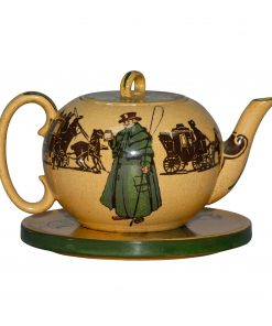 An Old Jarvey D3118 - 2pc. Teapot and Trivet Set - Royal Doulton Seriesware