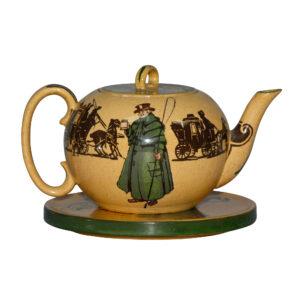 An Old Jarvey D3118 - 2pc. Teapot and Trivet Set - Royal Doulton Seriesware
