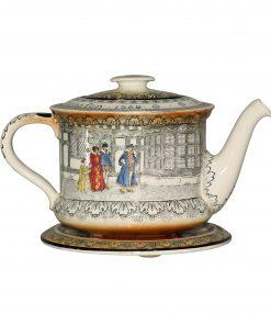 Old Moreton Hall D3858 - 2pc. Teapot and Trivet Set - Royal Doulton Seriesware