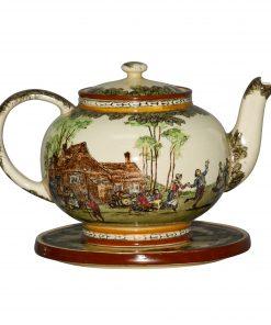 Village Fete D2780 - 2pc. Teapot and Trivet Set - Royal Doulton Seriesware