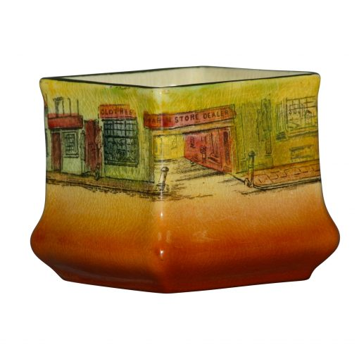 Dickens Bill Sykes Vase Sq Min - Royal Doulton Seriesware
