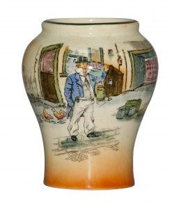 Dickens Capn Cuttle Vase 5H - Royal Doulton Seriesware