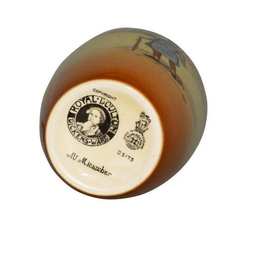 Dickens Mr Micawber Vase 6H - Royal Doulton Seriesware