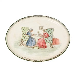 "Tea Trivet ""Leave tomorrow till tomorrow"" Oval - Royal Doulton Seriesware"