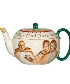 "Teapot ""Monks and Mottoes"" - Royal Doulton Seriesware"