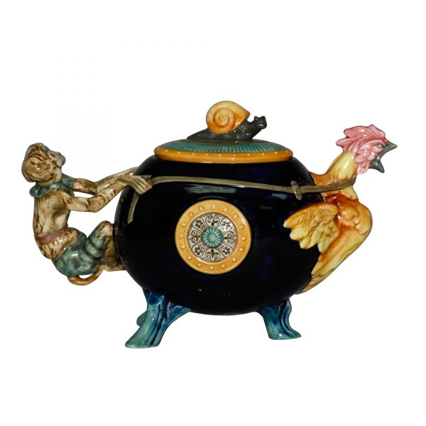 Cockerel Monkey Teapot - Minton Teapot