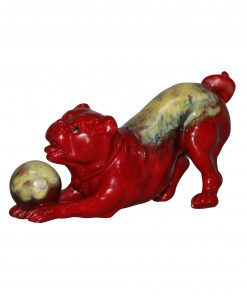 Bernard Moore Pug Playing - Royal Doulton Flambe