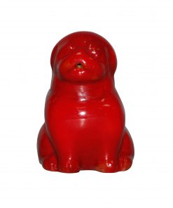 Bernard Moore Seated Pug - Royal Doulton Flambe