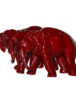 Bernard Moore Two Elephant - Royal Doulton Flambe