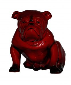 Bulldog Large Seated - Royal Doulton Flambe