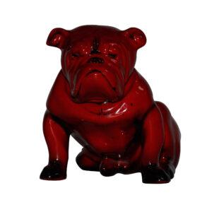 Bulldog Large Seated - Royal Doulton Flambe