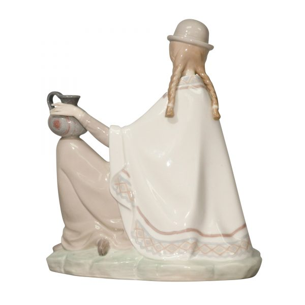 Peruvian Girl Baby Glossy - Lladro Figurine