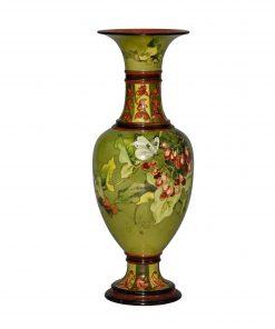 Faience Vase Butterflies - Royal Doulton Stoneware