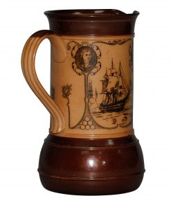 Nelson and His Capt Pitcher BR - Royal Doulton Stoneware