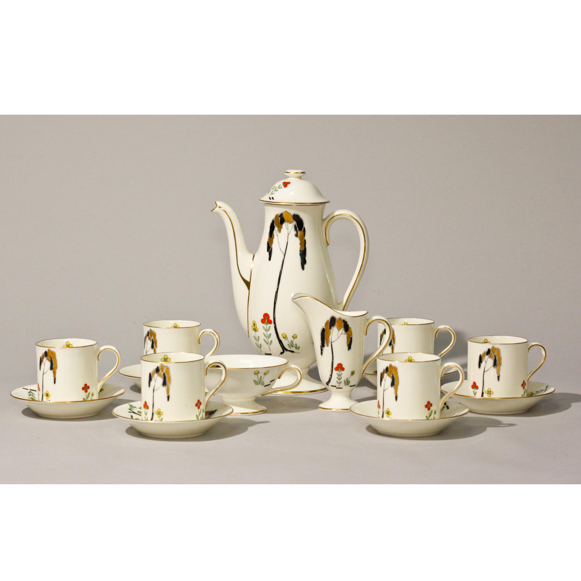 Royal Doulton Art Deco Coffee Set (15 Pc.)