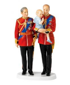 Future Kings HN5884 (Prince Charles, Prince Edward and Prince George) - Royal Doulton Figurine