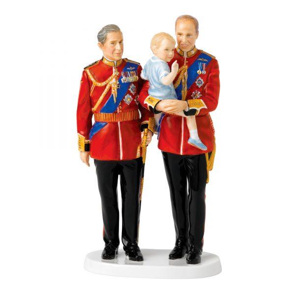 Future Kings HN5884 (Prince Charles, Prince Edward and Prince George) - Royal Doulton Figurine