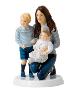 Young Royals HN5883 (Princess Catherine, Prince George and Princess Charlotte) - Royal Doulton Figurine
