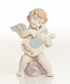 Adagio Angel with Harp 6628 - Lladro Figure