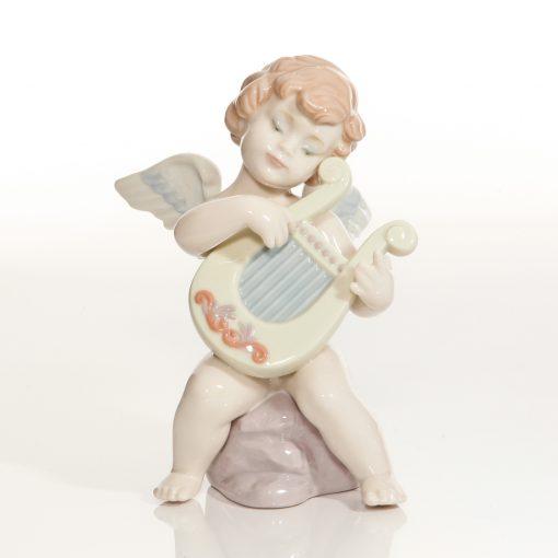 Adagio Angel with Harp 6628 - Lladro Figure