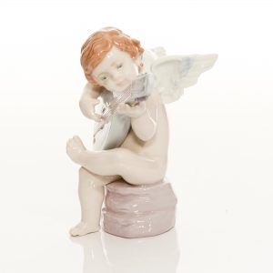 Allegro Angel Strumming Guitar 6629 - Lladro Figure