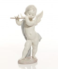 Angel with Flute 1233 - Lladro Figure