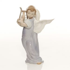 Angel with Lute 5493 - Lladro Figure