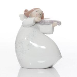 Little Angel with Violin 6529 - Lladro Figurea