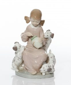 Sweety Girl with Puppies 1248 - Lladro Figure