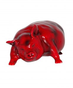 Pig Snorting (Large) - Royal Doulton Flambe