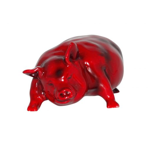 Pig Snorting (Large) - Royal Doulton Flambe