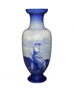 Blue Children Vase Dutch 17H - Royal Doulton Seriesware