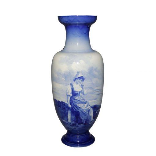 Blue Children Vase Dutch 17H - Royal Doulton Seriesware