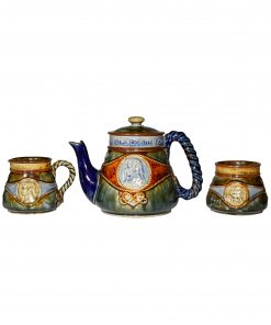 Lord Nelson Teaset 3 pc BL - Royal Doulton Stoneware