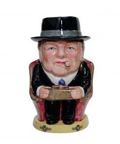 Winston Churchill Prototype Lidded Cigar Jar - Blue tie - Bairstow Manor Collectables