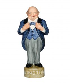 Winston Churchill George Strube - Blue Jacket, grey striped pants - Bairstow Manor Collectables