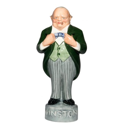 Winston Churchill George Strube - Green Jacket, grey striped pants - Bairstow Manor Collectables
